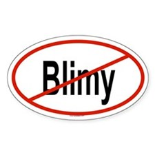 BLIMY Oval Decal