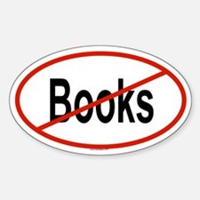 BOOKS Oval Decal