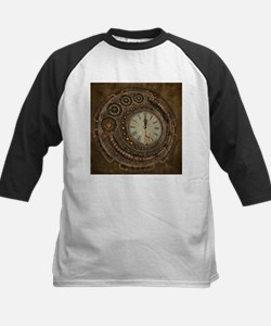 Steampunk, awesome clock Baseball Jersey