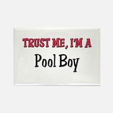 Trust Me I'm a Pool Boy Rectangle Magnet