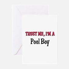 Trust Me I'm a Pool Boy Greeting Cards (Pk of 10)