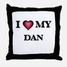 I love Dan Throw Pillow