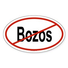 BOZOS Oval Decal