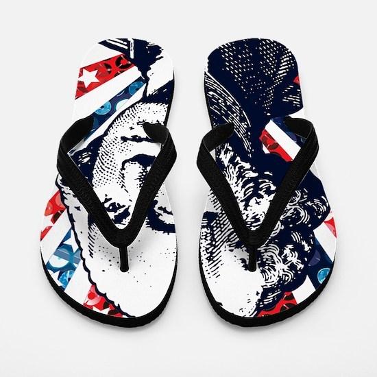 sequin george washington Flip Flops