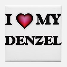 I love Denzel Tile Coaster
