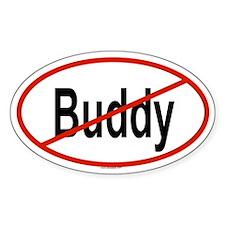 BUDDY Oval Decal