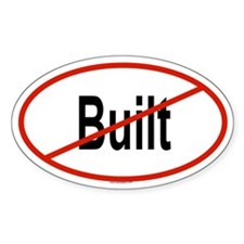 BUILT Oval Decal