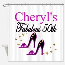 FABULOUS 50TH Shower Curtain