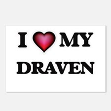 I love Draven Postcards (Package of 8)