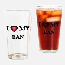 I love Ean Drinking Glass