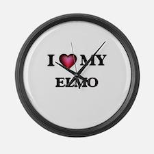 I love Elmo Large Wall Clock