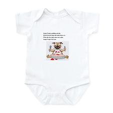 Cute Black pudding Infant Bodysuit