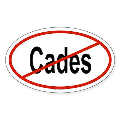 CADES Oval Sticker