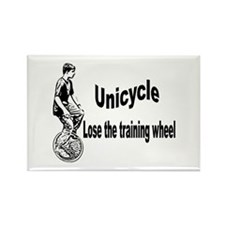 Unique Unicycle Rectangle Magnet (10 pack)