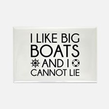 I Like Big Boats Rectangle Magnet