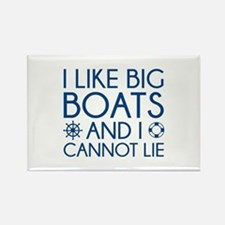 I Like Big Boats Rectangle Magnet