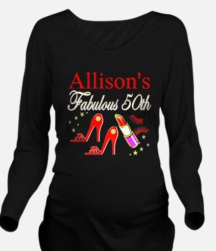 50TH BIRTHDAY Long Sleeve Maternity T-Shirt
