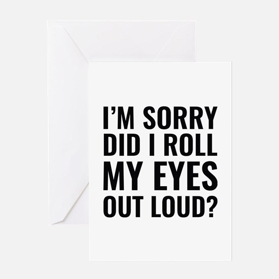 Roll My Eyes Greeting Card
