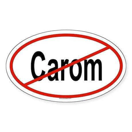 CAROM Oval Sticker
