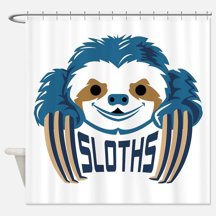 Cute Sports logo Shower Curtain