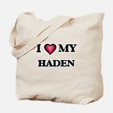 I love Haden Tote Bag