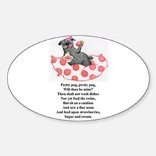Strawberries and Cream Oval Decal