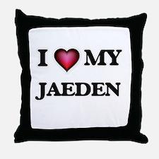 I love Jaeden Throw Pillow