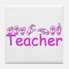 Teacher Tile Coaster