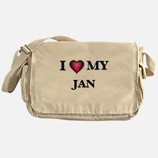I love Jan Messenger Bag