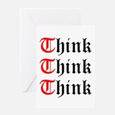 think-think-think-old-english.png Greeting Cards