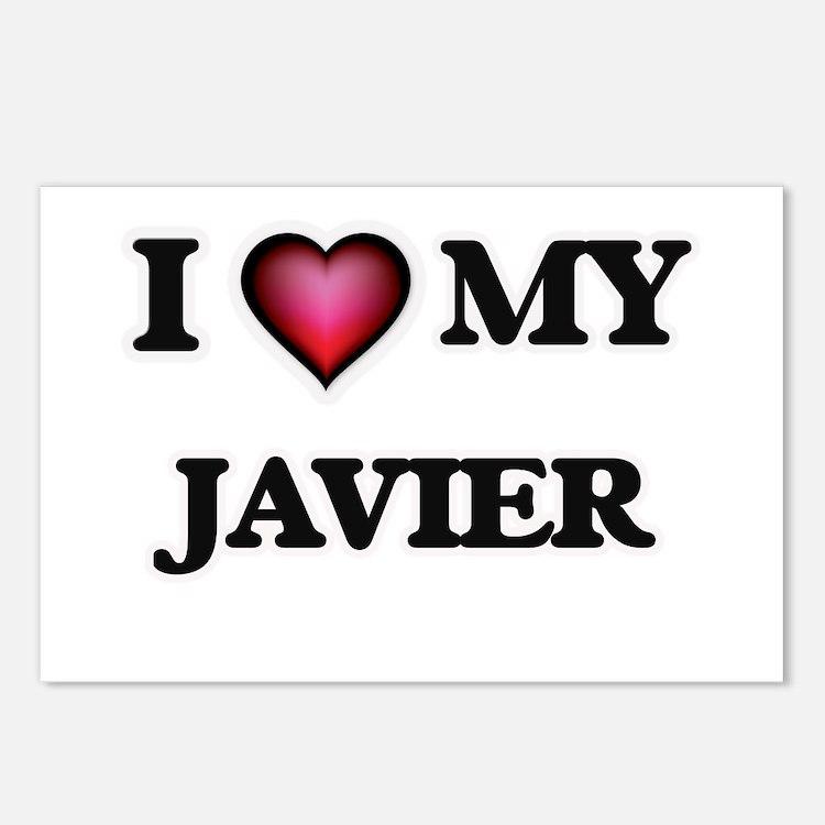 I love Javier Postcards (Package of 8)