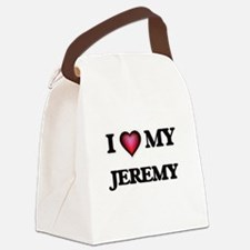 I love Jeremy Canvas Lunch Bag