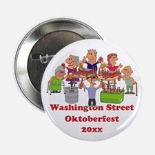 """Personalized Funny Beer Party Cartoon 2.25"""" Button"""