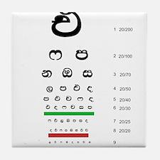 Snellen Sinhala Eye Chart Tile Coaster