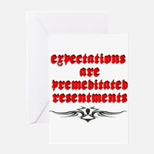 expectations.png Greeting Cards