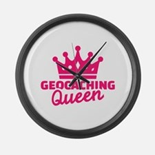 Geocaching Queen Large Wall Clock