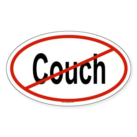 COUCH Oval Sticker