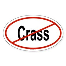 CRASS Oval Decal