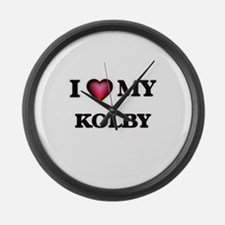 I love Kolby Large Wall Clock