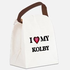 I love Kolby Canvas Lunch Bag