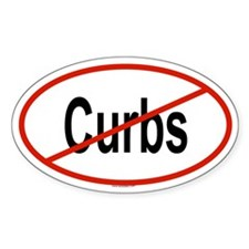 CURBS Oval Decal