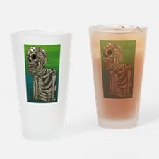 Day of the Dead Sugar Skull Drinking Glass