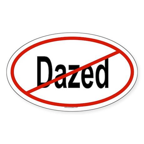 DAZED Oval Sticker