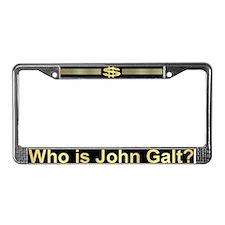 John Galt Dollar Emblem License Plate Frame