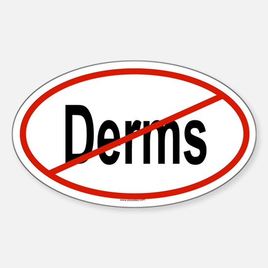 DERMS Oval Decal