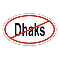 DHAKS Oval Decal