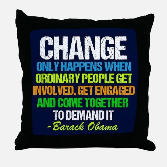 Obama Farewell Throw Pillow
