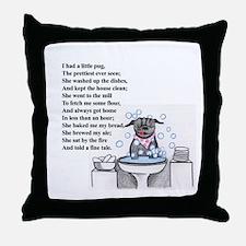 Pretty Pug Throw Pillow
