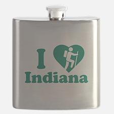 Love Hiking Indiana Flask