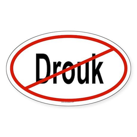 DROUK Oval Sticker